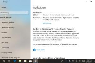 Windows 10 S-Mode mit einer Insider Version installieren