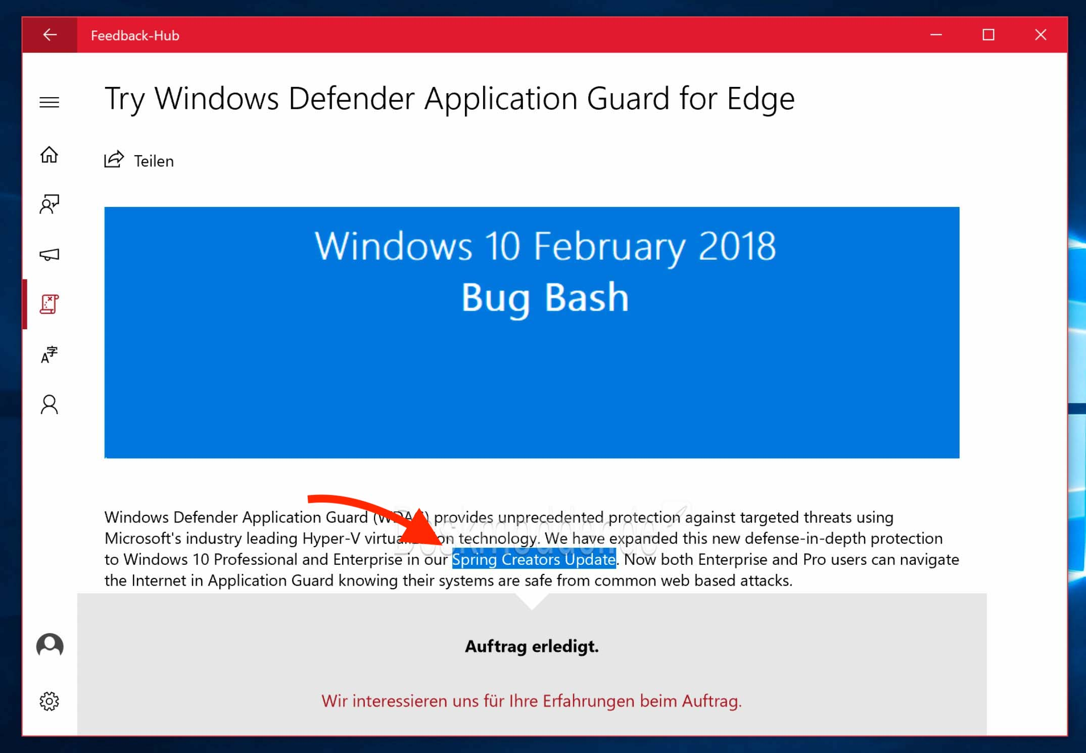 windows 10 version 1803 patch