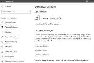 Windows Update: Download fortsetzen ist in Planung