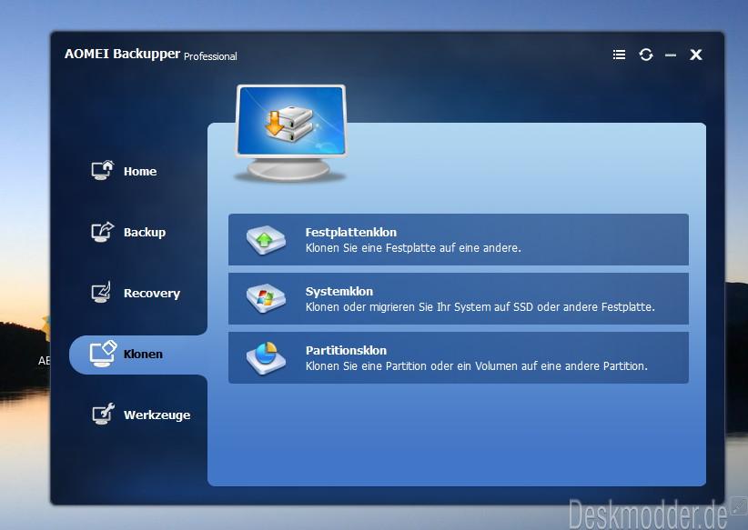 AOMEI Backupper 4 1 0 steht zum Download bereit | Deskmodder de