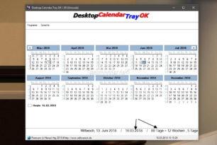 Desktop.Calendar.Tray.OK – Ganz kleiner handlicher Kalender für Windows