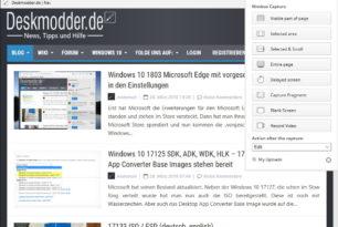Nimbus Screen Capture für den Microsoft Edge als Erweiterung