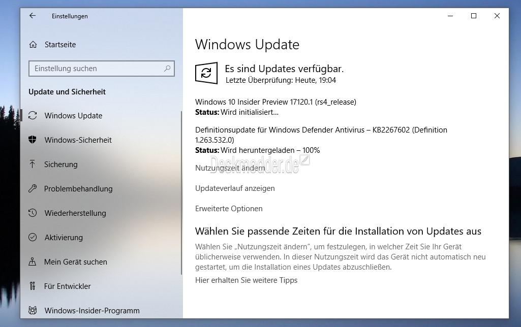 Windows 10 Insider Preview 17120: Letzte Fixes auf dem Weg zur RTM