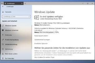 Windows 10 17627 steht für die Insider (Skip Ahead) bereit