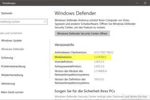 Windows Defender Antimalware Modul 1.1.14700.5 behebt schwere Sicherheitslücke