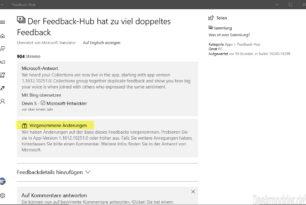 Behobene Fehler in Windows 10 bald auch per Twitter und nicht nur im Feedback Hub (Umfrage)