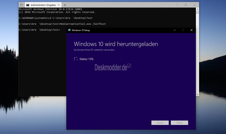 MediaCreationTool Windows 10 1803 17133 / 17134