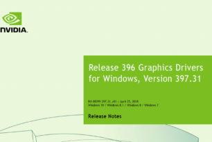 Nvidia Treiber 397.31 WHQL erschienen