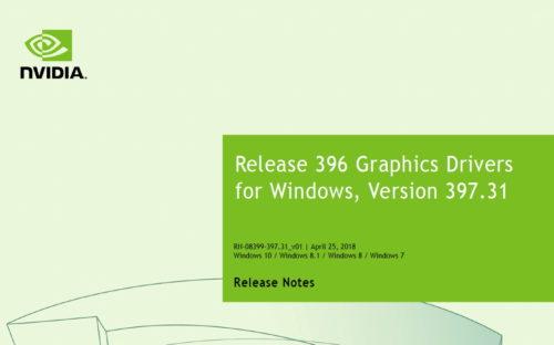 Nvidia Grafiktreiber 397.31