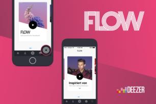 Deezer Flow: Playlisten im Karussell-Design
