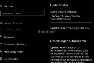 Windows 10 Mobile 15254.369 (KB4099572) steht bereit