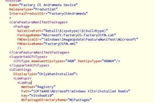 Andromeda OS, Windows Core, Polaris und Stamford tauchen in der Windows SDK 17672 auf