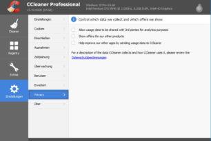 CCleaner 5.43.6520 [Update 5.43.6522] mit neuen Datenschutz Einstellungen