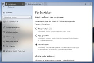 Windows 10 17672 – Entwicklermodus [Workaround] und Optionale Funktionen funktionieren nicht. Fehler in der Build