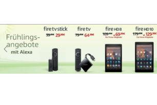 Amazon Angebote:  Fire TV, Fire HD, Echo Dot und mehr im Frühlingsangebot reduziert
