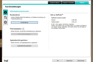 Logitech SetPoint 6.68.250 Software, Maus- und Tastatur Treiber stehen bereit