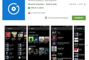 Microsoft Groove App (Android und iOS) wird zum 1.12.18 eingestellt
