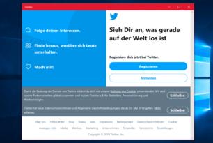 """Twitter mit neuer """"App"""" für Windows 10"""