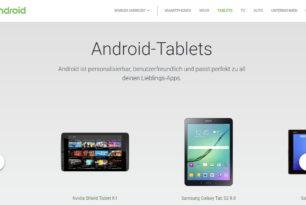 Android Tablets sind zurück auf der Android Seite