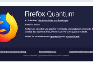 Mozilla veröffentlicht Firefox 61