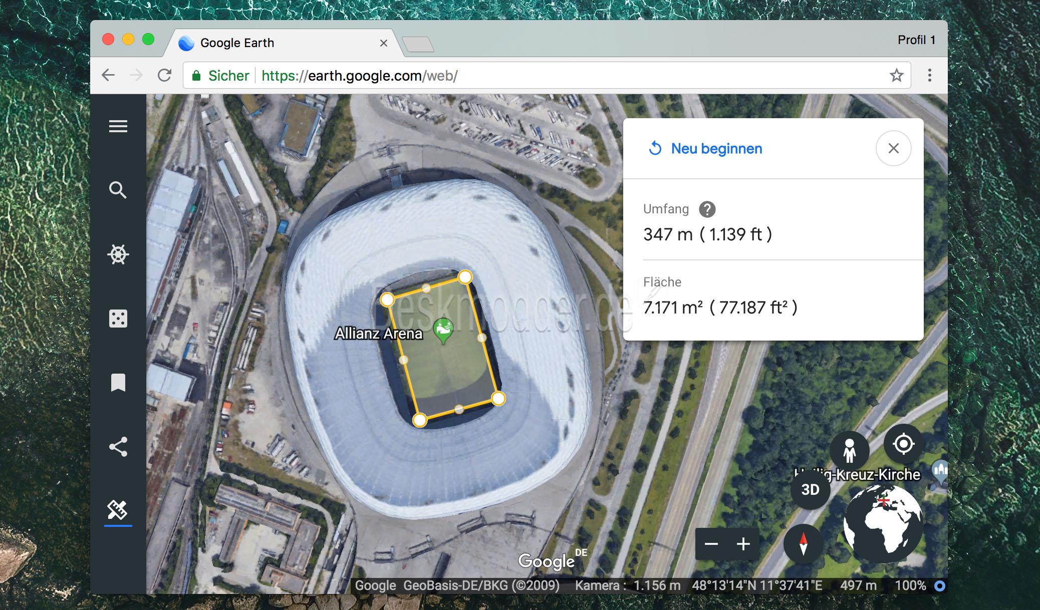 Flächen Messen Google Earth
