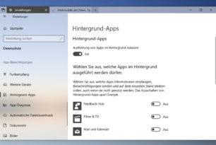 Windows 10 1803 Hintergrund-Apps Ausführung stellt sich immer wieder auf Ein – Workaround