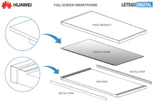 Huawei patentiert rahmenloses Full-Screen Smartphone