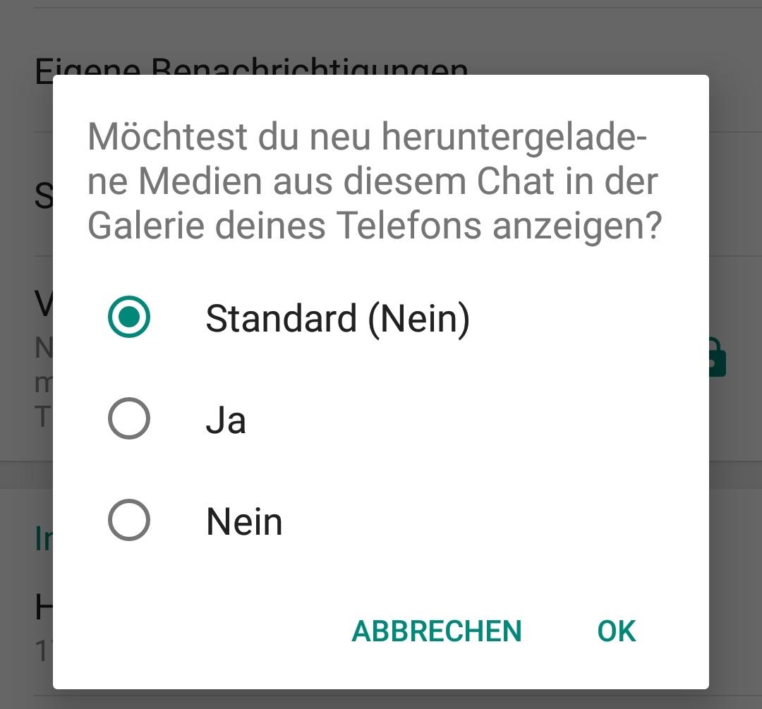 Whatsapp Beta Für Android Medien Einzelner Chats Aus Galerie