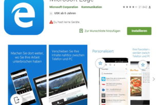 Android: Microsoft Edge 42.0.02055 mit Adblock Plus Mechanismus