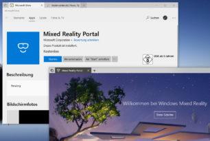 Mixed Reality Portal als App im Microsoft Store – Deinstallation dann bald möglich