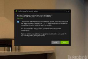 NVIDIA Grafik Firmware Update Tool für DisplayPort 1.3 und 1.4