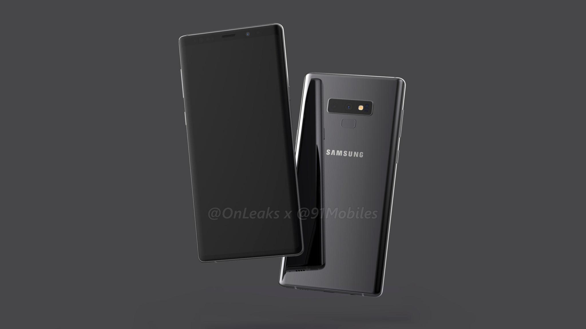 Samsung Galaxy Note 9 Zahlreiche Render Bilder Eine Render Video