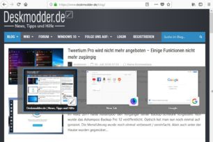 """Firefox aktiviert """"Strg + Tab"""" als Tab-Vorschau wie in Windows 10 ab Version 63"""