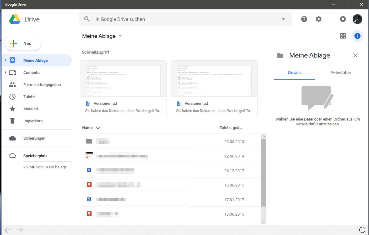 Google Drive, Docs, Photos Apps im Microsoft Store für