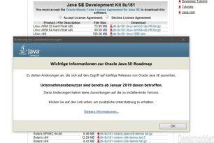 Neues Java 8u181 Update behebt 8 Sicherheitslücken