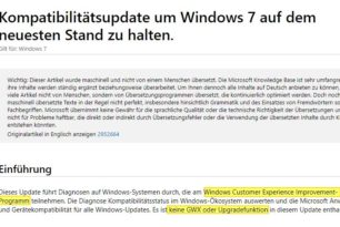 Kritische Telemetrieupdates für Windows 7 und 8.1 – Na und?