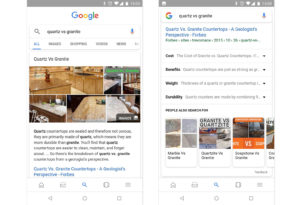 Google Suche – Verfeinerte Suche mit Unterthemen in den USA