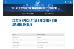 Intel und L1 Terminal Fault – Müssen wir uns sorgen machen? Nein, updaten und abwarten ist angesagt