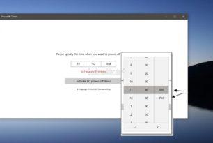 PowerOff Timer – PC zu einer bestimmten Zeit herunterfahren als App im Microsoft Store