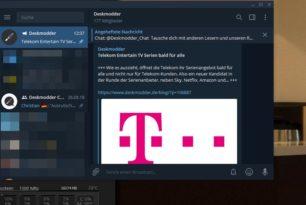 Telegram Desktop App mit Nachtmodus