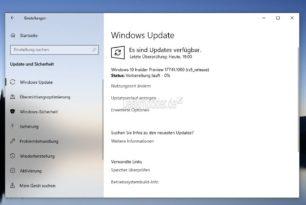 Windows 10 17741 steht im Fast Ring für die Insider bereit