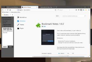 Bookmark Notes – Beschreibungen in den Lesezeichen über ein Addon im Firefox ab 62