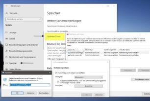 Laufwerke optimieren in den Einstellungen der Windows 10 1903