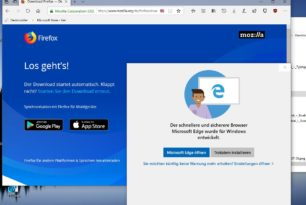 """Windows 10 1809 """"warnt"""" bei der Installation vom Firefox oder Google Chrome und empfiehlt den Edge [2.Update]"""