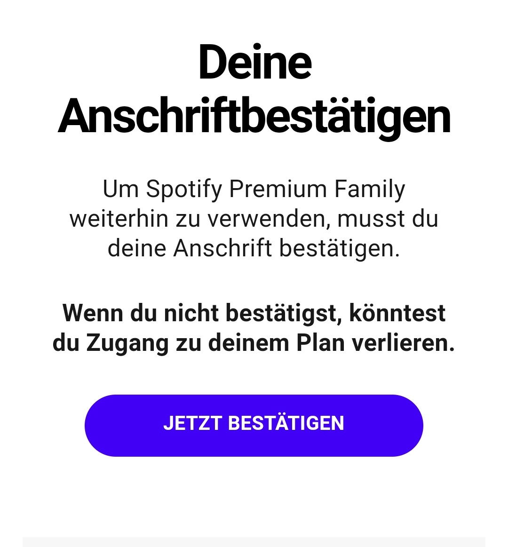 Spotify Premium Family: Standortüberprufung per Postleitzahl & GPS