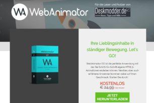 Giveaway und Gewinnspiel – Incomedia WebAnimator Go, Now und Plus
