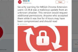 Mega 3.39.4 Chrome Erweiterung gehackt – Update auf die 3.39.5 behebt das Problem