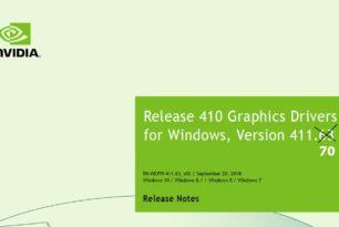 Nvidia Geforce 411.70 WHQL Treiber steht bereit