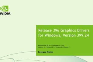 Nvidia Geforce 399.24 WHQL Treiber steht zum Download bereit
