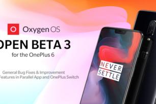OnePlus 6: Dritte OxygenOS Betaversion basierend auf Android 9 Pie verfügbar